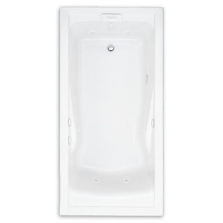 American Standard Evolution Whirlpool Acrylic White Bathtub
