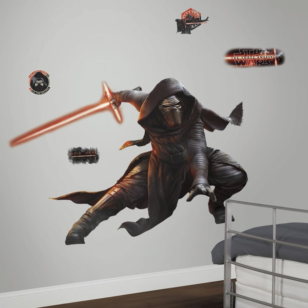 Star Wars Ep VII Kylo Ren Giant Glow in the Dark Wall Decal 16288349
