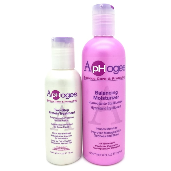 ApHogee Balancing Moisturizer and Two-step Protein Treatment