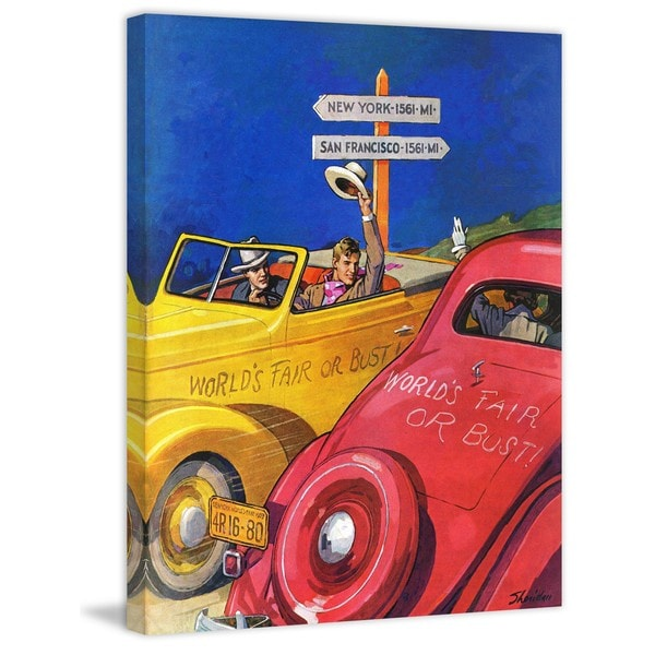 """Marmont Hill - """"World's Fair or Bust"""" by John E. Sheridan Painting Print on Canvas"""