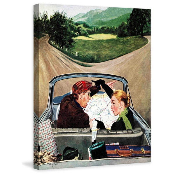 "Marmont Hill - ""Fork in the Road"" by George Hughes Painting Print on Canvas"