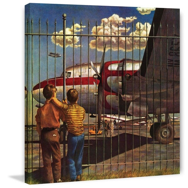 "Marmont Hill - ""Boys at Airport"" by John Atherton Painting Print on Canvas"