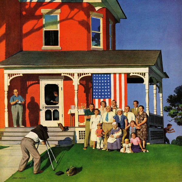 "Marmont Hill - ""Family Portrait on the Fourth"" by John Falter Painting Print on Canva"