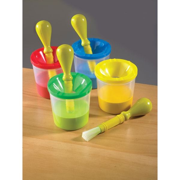 Discovery Kids No-Spill Paint Pot & Brush Set