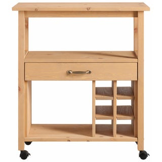 Scandinavian Lifestyle Jerup Wooden Kitchen Trolley