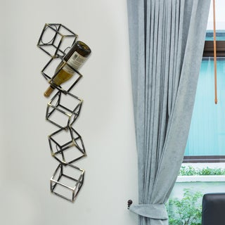 Stratton Home Decor Contemporary Stacking 5-Bottle Wall Hanging Wine Rack