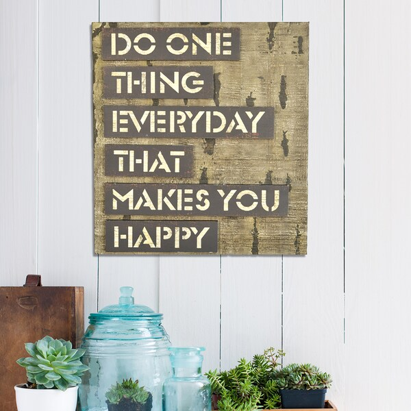 Stratton Home Decor 'Do One Thing' Typography Art