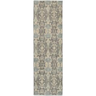 Nomadic Ikat Ivory/ Grey Rug (2'3 x 7'6)