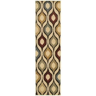 Odgee Design Ivory/ Multi-colored Rug (1'10 x 7'3)