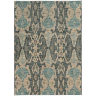 Nomadic Ikat Ivory/ Grey Rug (9'10 x 12'10)