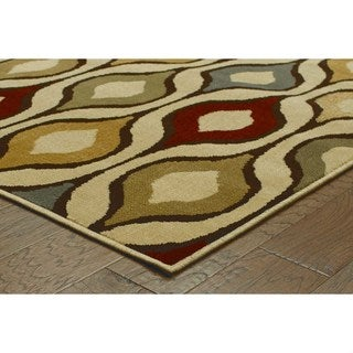 Odgee Design Ivory/ Multi-colored Rug (9'10 x 12'10)