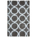 Arden Loft Hand-tufted Grey Geometric  Danbury Crossing Collection Microfiber Area Rug (5' x 8')