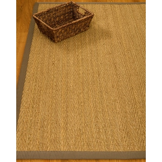Four Seasons Gray Seagrass Rug (6' x 9')