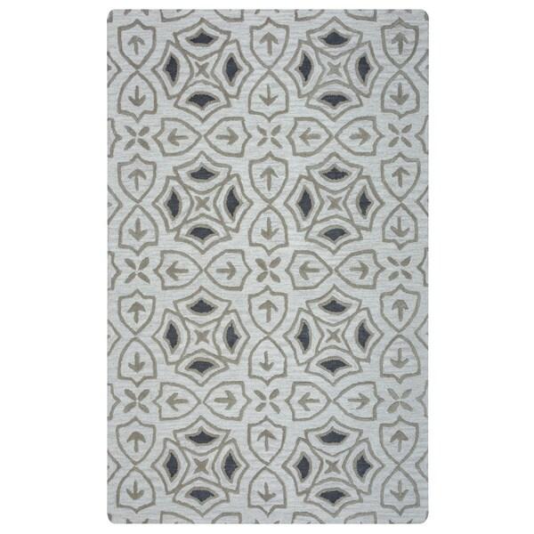 Arden Loft Hand-tufted Ivory Brick Lane Lisbon Corner Collection Wool Area Rug (5 x 8)