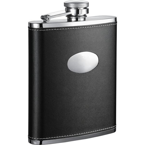 Visol Eclipse Black Leather Liquor Flask - 18 ounces 16290477