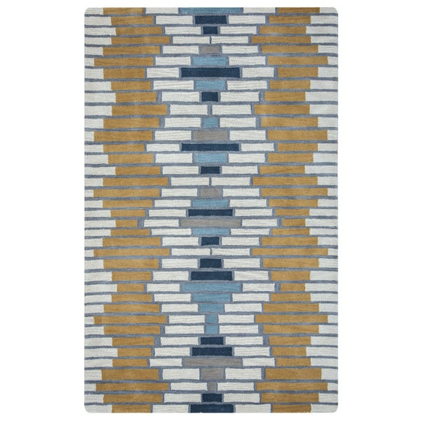 Arden Loft Hand-tufted Ivory Brick Lane Lewis Manor Collection Wool Area Rug (8' x 10')