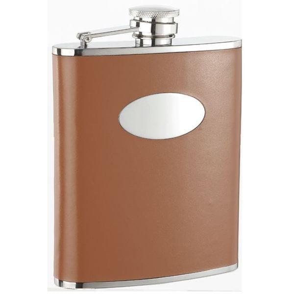 Visol Bobcat Brown Leather Liquor Flask - 18 ounces 16290492