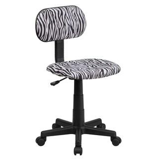 Zebra Print Fabric Task Chair