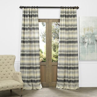Exclusive Fabrics Sunset Horizontal Stripe Faux Silk Jacquard Curtain Panel