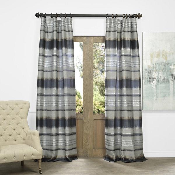 Exclusive Fabrics Horizon Faux Silk Jacquard Curtain Panel 16290892