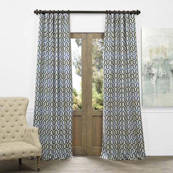 Cascade Faux Silk Jacquard Curtain