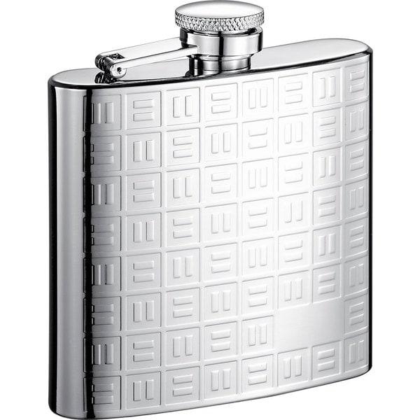 Visol Domino Pattern Stainless Steel Liquor Flask - 6 ounces