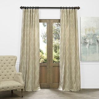 Exclusive Fabrics Hawaii Taupe Faux Silk Jacquard Curtain Panel