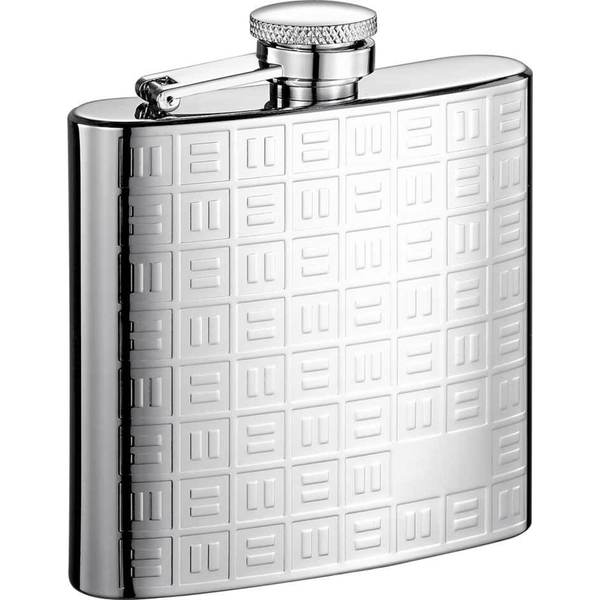 Visol Domino Pattern Stainless Steel Liquor Flask - 8 ounces