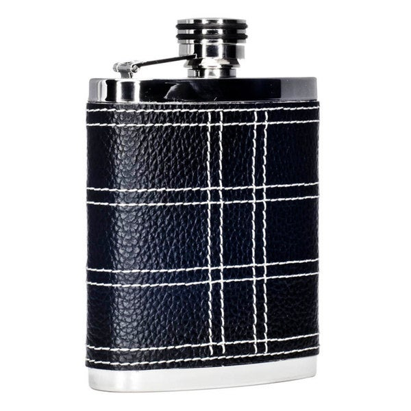 Visol Formal Black and White Liquor Flask - 7 ounces