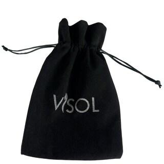 Visol Black Velvet Bag with Logo