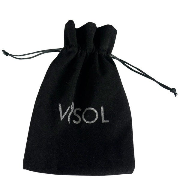 Visol Black Velvet Bag with Logo