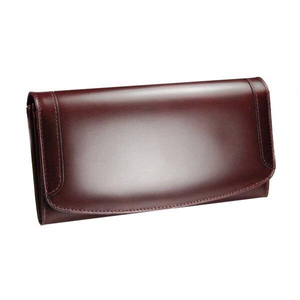 Castello Leather Women's Burgundy Clutch Wallet