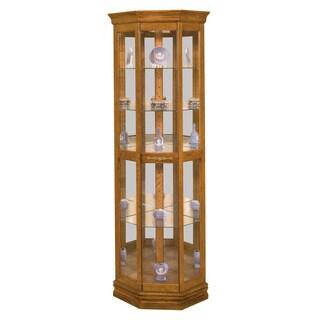 Philip Reinisch Co. Lighthouse Dover II Corner Curio Cabinet
