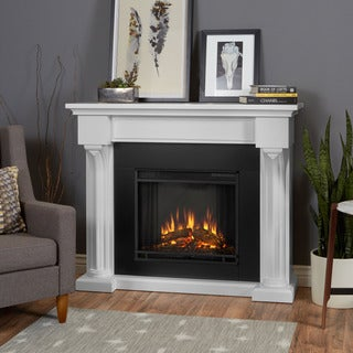 Real Flame Verona White Electric Fireplace