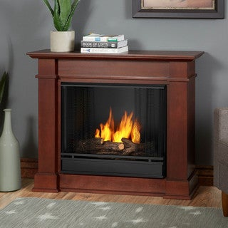 Real Flame Devin Dk. Espresso Gel Fuel Fireplace