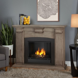 Real Flame Adelaide Dry Brush White Gel Fuel Fireplace
