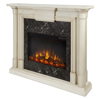 Real Flame Maxwell Whitewash Electric 47.6-inch Fireplace