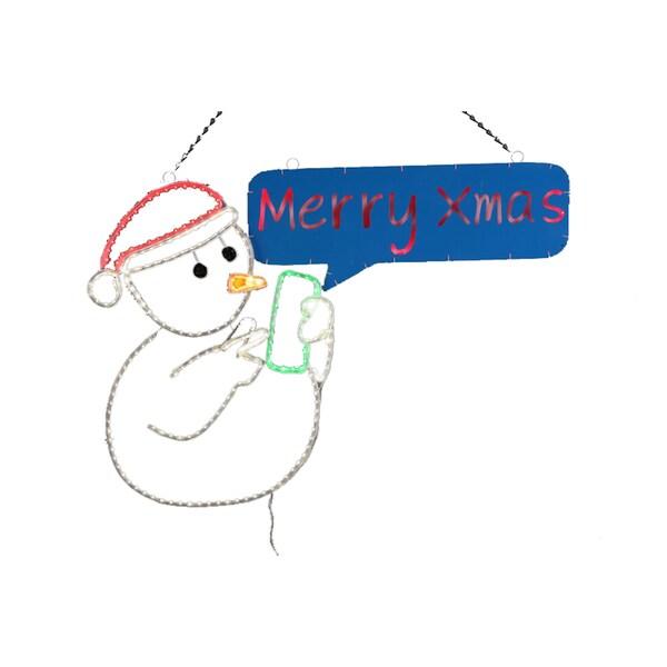 2-D LED Texting Snowman
