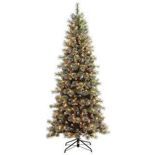 Pre-lit Snowy Silverton Pine Tree