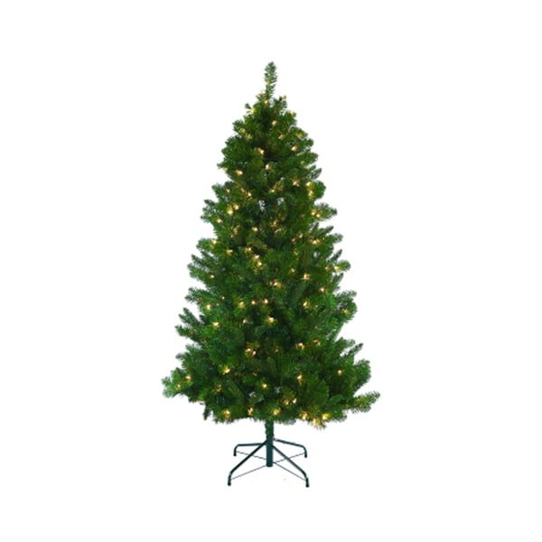 Pre-lit Slim Mixed Pine Tree (As Is Item)