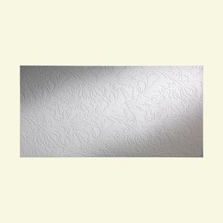 Fasade Nettle Matte White Wall Panel (4' x 8')