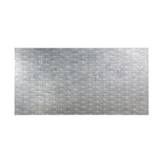 Fasade Nettle Crosshatch Silver Wall Panel (4' x 8')