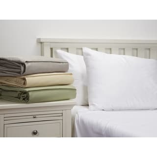 800 Thread Count Cotton Rich Solid Sheet Set by Home Fashion Designs