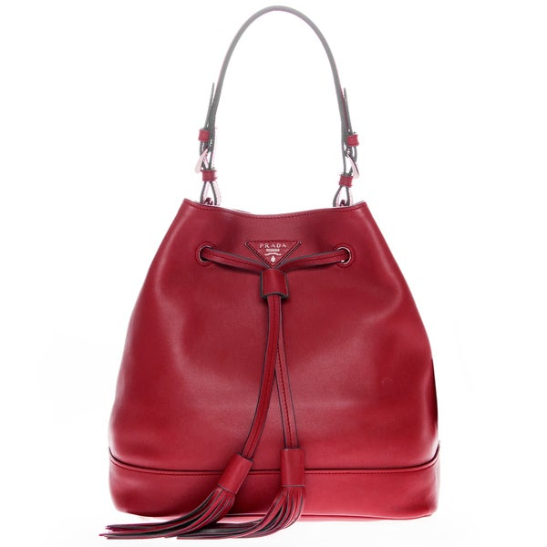 Prada Soft Leather Bucket Bag