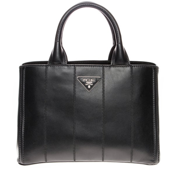 Prada Soft Calf Leather Gardener's Black Tote Bag