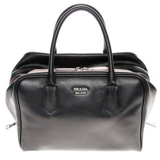 Prada Medium Black Soft Calf Leather Inside Bag