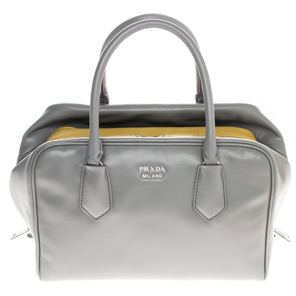 Prada Medium Grey Soft Calf Leather Inside Bag