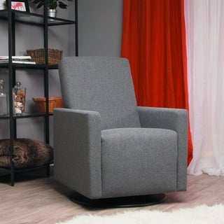 Ultramotion by Dutailier Lungo Upholstered Dark Grey Swivel Glider