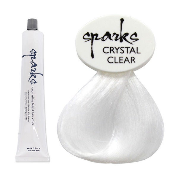Sparks Premium Long Lasting Bright Hair Color Dyes (Crystal Clear)