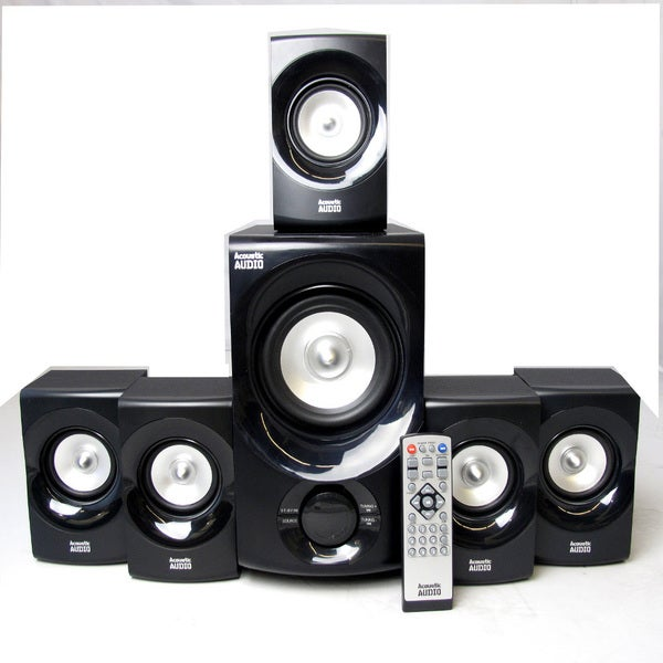 Acoustic Audio AA5171 5.1-channel 700W Bluetooth Home Theater Speaker System with Powered Subwoofer